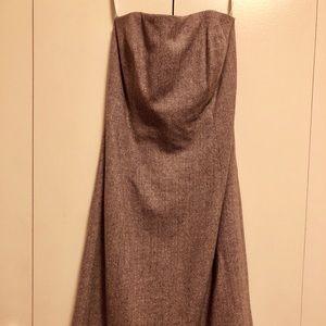 Shosanna wool tweed strapless dress below knee sz4